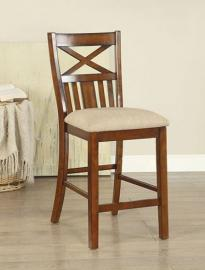 Arlington by Furniture of America CM3037PC Counter Height Bar Stool Set of 2