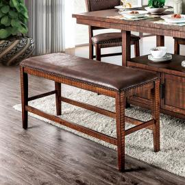 Wichita by Furniture of America Light Walnut & Dark Brown Counter Height Dining Bench