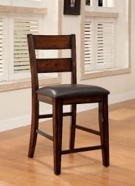 Dickson II by Furniture of America CM3187PC Counter Height Bar Stool Set of 2