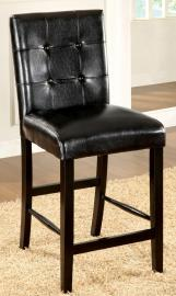 Boulder II by Furniture of America CM3188BK-PC Counter Height Bar Stool Set of 2