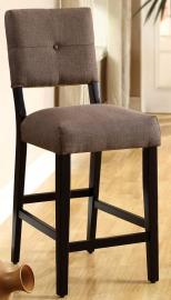 Bay Side II by Furniture of America CM3311PC Counter Height Bar Stool Set of 2