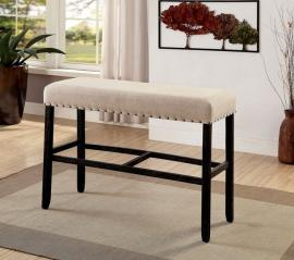 Sania II by Furniture of America CM3324BK-BBN Bar Height Bench