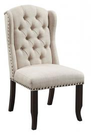 Sania I by Furniture of America CM3324BK-SC Chair Set of 2