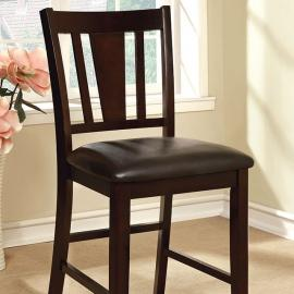 Bridgette ll by Furniture of America CM3325PC Counter Height Chair Set of 2