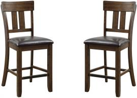 Brockton III by Furniture of America CM3355PC Counter Height Bar Stool Set of 2