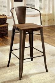 Cooper II by Furniture of America CM3529PC Bar Stool Set of 2
