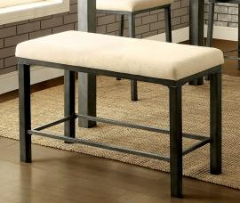 Jazlyn II by Furniture of America CM3686PBN Counter Height Bench