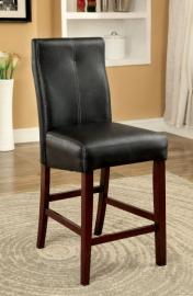 Bonevile II by Furniture of America CM3824PC Counter Height Bar Stool Set of 2