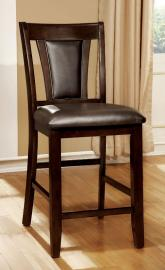 Brent II by Furniture of America CM3984DK-PC Counter Height Bar Stool Set of 2