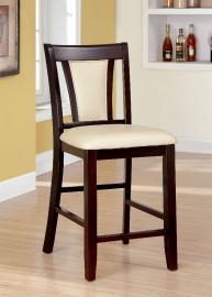 Brent II by Furniture of America CM3984PC Counter Height Bar Stool Set of 2
