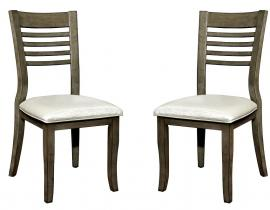 Dwight III by Furniture of America CM3988GY-SC Chair Set of 2
