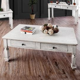 Joliet by Furniture of America Antique White CM4089C Coffee Table
