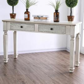 Joliet by Furniture of America Antique White CM4089S Sofa Table
