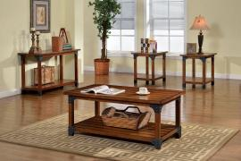Bozeman by Furniture of America Antique Oak CM4102-3PK Coffee Table Set