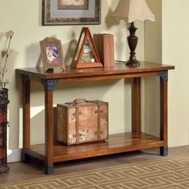 Bozeman by Furniture of America Antique Oak CM4102S Sofa Table