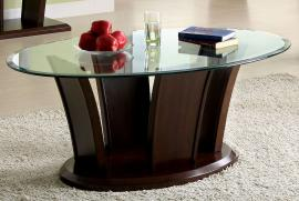 Manhattan IV by Furniture of America Brown Cherry CM4104C Coffee Table