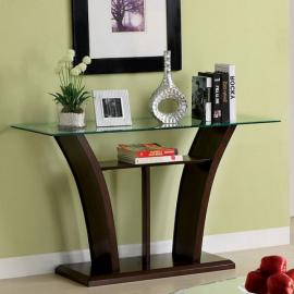 Manhattan IV by Furniture of America Brown Cherry CM4104S Sofa Table