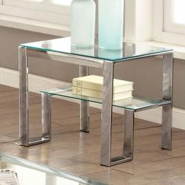 Nikita by Furniture of America CM4163CRM-E End Table