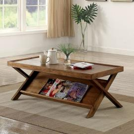 Caitlan by Furniture of America Light Oak CM4177C Coffee Table