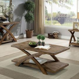 Bryanna by Furniture of America Antique Light Oak CM4178-3PK Coffee Table