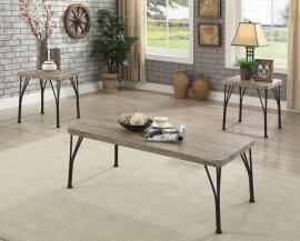 Majorca by Furniture of America Gray CM4279-3PK Coffee Table Set