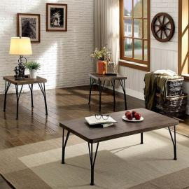 Majorca by Furniture of America Brown CM4279BR-3PK Coffee Table Set