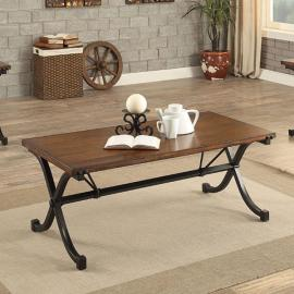 Sabine by Furniture of America Dark Oak CM4322-3PK Coffee Table