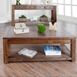 Meadow by Furniture of America Oak CM4327A-C Coffee Table