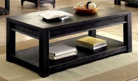Meadow by Furniture of America Antique Black CM4327C Coffee Table