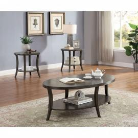 Paola Gray by Furniture of America Collection CM4334GY-3PK 3 PC Coffee Table Set