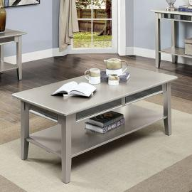 Celestine Silver Finish by Furniture of America Collection CM4347C Coffee Table