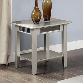 Celestine Silver Finish by Furniture of America  Collection CM4347E End Table