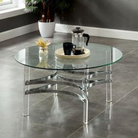 Tirso Chrome Finish by Furniture of America Collection CM4350C Coffee Table