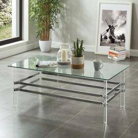 Trofa Chrome Finish by Furniture of America Collection CM4351C Coffee Table