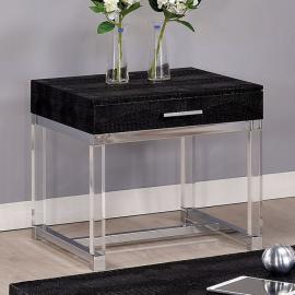 Rhea by Furniture of America CM4380BK-E End Table