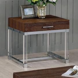 Rhea by Furniture of America CM4380BR-E End Table