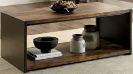 Reina by Furniture of America Matte Black CM4398C Coffee Table