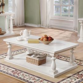 Tammie by Furniture of America Antique White CM4421WH-C Coffee Table