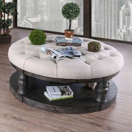 Mika by Furniture of America Antique Gray CM4424GY-F-C Coffee Table