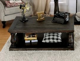 Keira by Furniture of America Weathered Walnut CM4455C Coffee Table