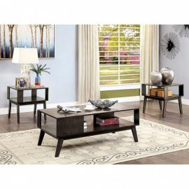 Vilgot Warm Gray by Furniture of America Collection CM4493-3PK 3 PC Coffee Table Set