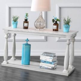 Arlington by Furniture of America Antique White CM4520S Sofa Table