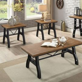 Kirstin by Furniture of America Rustic Oak CM4573-3PK Coffee Table