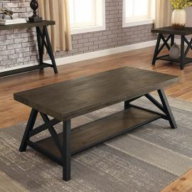 Tagan by Furniture of America Medium Oak CM4611C Coffee Table