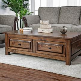 Annabel by Furniture of America Walnut CM4613C Coffee Table