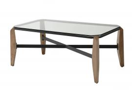 Yvaine by Furniture of America Black Powder Coating CM4614C Coffee Table