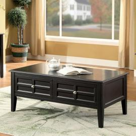 Yulisa by Furniture of America Black CM4704-C Coffee Table
