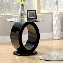 Lodia lll by Furniture of America CM4825BK-E End Table