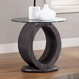 Lodia Gray Finish by Furniture of America CM4825GY-E End Table