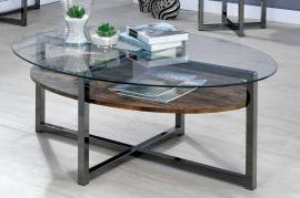 McMurray by Furniture of America Gray CM4845C Coffee Table